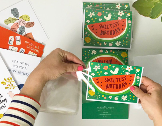 The beautiful project quirky colorful illustrated greeting cards located in vancouver bc the beautiful project was founded in 2007 by designer illustrator jeannette ordas she happily wears all the hats in this gig m4hsunfo